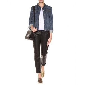 Paige Jimmy Jimmy Leather Crop Trouser